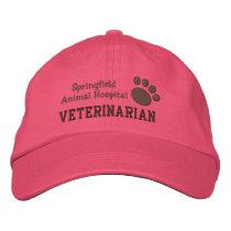 Veterinary Clinic Paw Print Baseball Cap