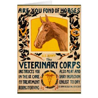 Veterinary Corps Card
