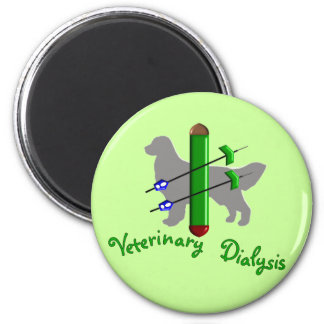 Veterinary Dialysis T-Shirts and Gifts 2 Inch Round Magnet