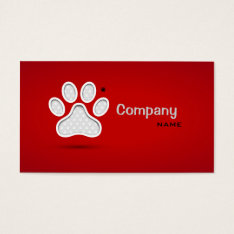 Veterinary First Aid Pets Doctor Private Clinic Business Card at Zazzle