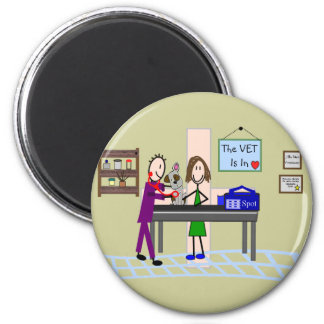 """Veterinary Gifts """"The Vet Is In"""" Magnet"""