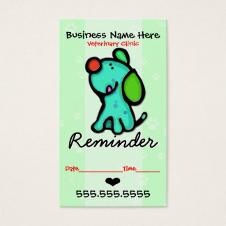 Veterinary.Grooming.Clinic.Appointment reminder Business Card