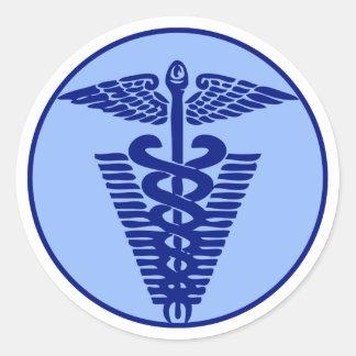 veterinary logo 3 classic round sticker