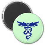 veterinary logo 4 2 inch round magnet