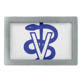 veterinary logo 4 rectangular belt buckles