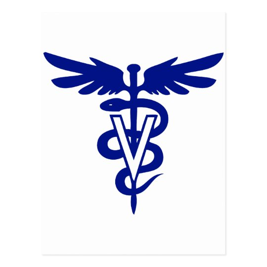 veterinary logo 4 postcard