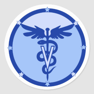 veterinary logo 4a classic round sticker