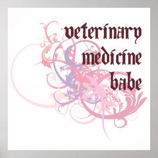 Veterinary Medicine Babe Poster
