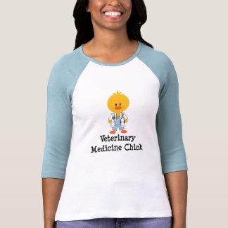 Veterinary Medicine Chick Raglan Tshirt