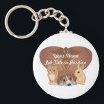 "Veterinary Medicine Keychain<br><div class=""desc"">Perfect for veterinary professionals and employees: veterninarians,  veterinary nurses,  veterinary technicians,  veterinary assistants,  and others. Featuring a kitten,  a puppy,  and a baby bunny on top of a heart background,  great for animal hospitals,  pet clinics,  and animal shelters.</div>"
