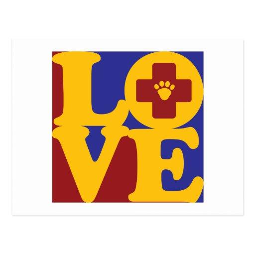 Veterinary Medicine Love Postcard