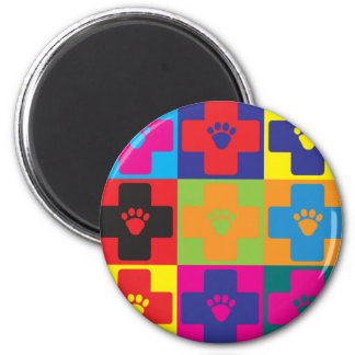 Veterinary Medicine Pop Art Magnet