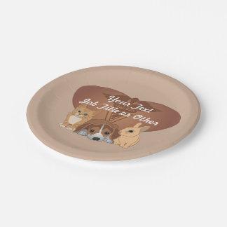 Veterinary Medicine Professional Paper Plate