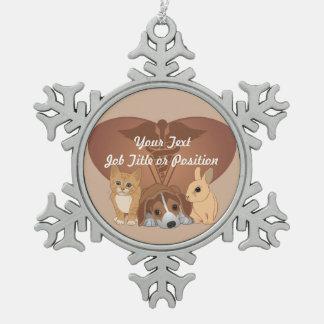 Veterinary Medicine Professional Snowflake Pewter Christmas Ornament