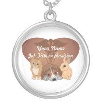 Veterinary Medicine Silver Plated Necklace