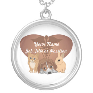 Veterinary Medicine Silver Plated Necklace