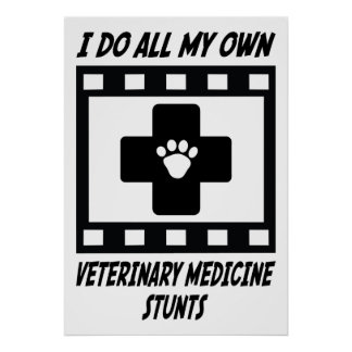 Veterinary Medicine Stunts Print