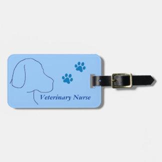 Veterinary Nurse Paw Print/Labrador Travel Bag Tag