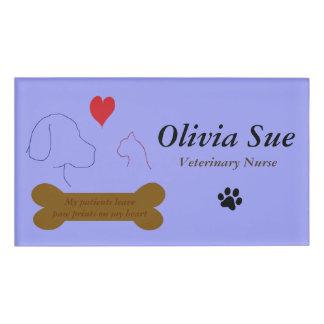 Veterinary Nurse Paw Prints On My Heart #4 Name Tag