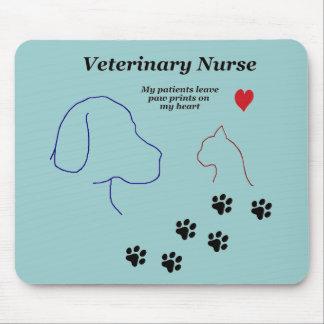Veterinary Nurse-Paw Prints on My Heart Mouse Pad