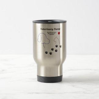 Veterinary Nurse - Paw Prints on My Heart 15 Oz Stainless Steel Travel Mug