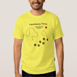 Veterinary Nurse-Paw Prints on My Heart T-shirt