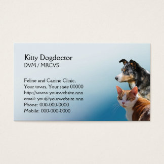 Veterinary practice appointment business card