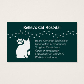 Veterinary Practice Feline Services U pick Color Business Card
