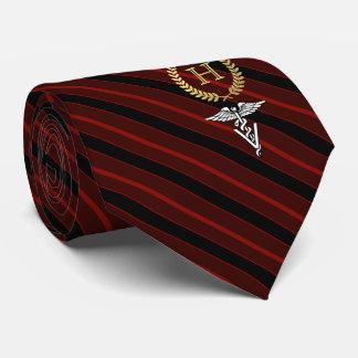 Veterinary Professional Framed Monogram Red Neck Tie