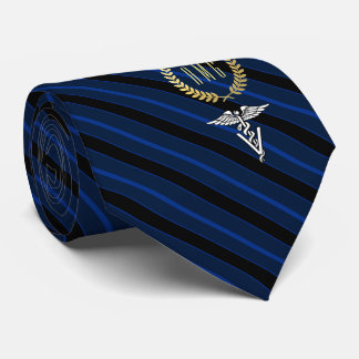 Veterinary Professional Monogrammed Blue Faux Gold Tie
