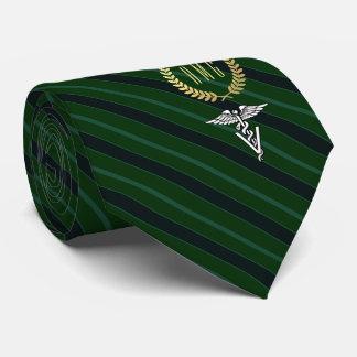 Veterinary Professional Monogrammed Green Neck Tie