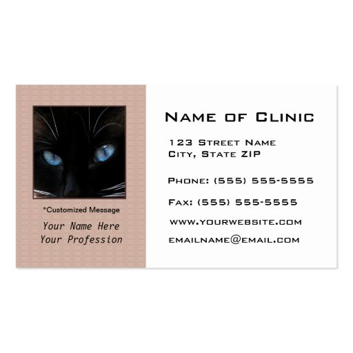 veterinary siamese cat blue eyes business card template zazzle. Black Bedroom Furniture Sets. Home Design Ideas