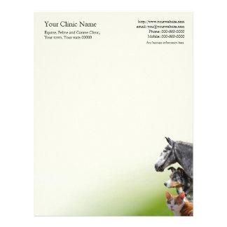 Veterinary surgeon business letterhead