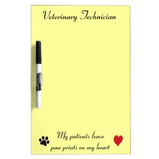 Veterinary Technician - Paw Prints on My Heart #2 Dry-Erase Board