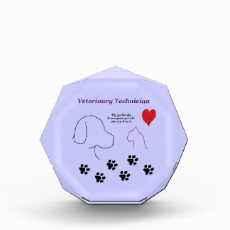 Veterinary Technician - Paw Prints on My Heart Award