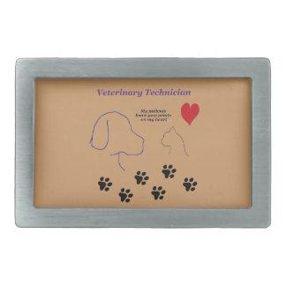 Veterinary Technician - Paw Prints on My Heart Belt Buckle