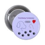 Veterinary Technician - Paw Prints on My Heart Pins