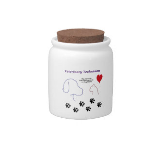 Veterinary Technician - Paw Prints on My Heart Candy Jar