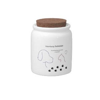 Veterinary Technician - Paw Prints on My Heart Candy Jars