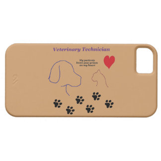 Veterinary Technician - Paw Prints on My Heart iPhone SE/5/5s Case