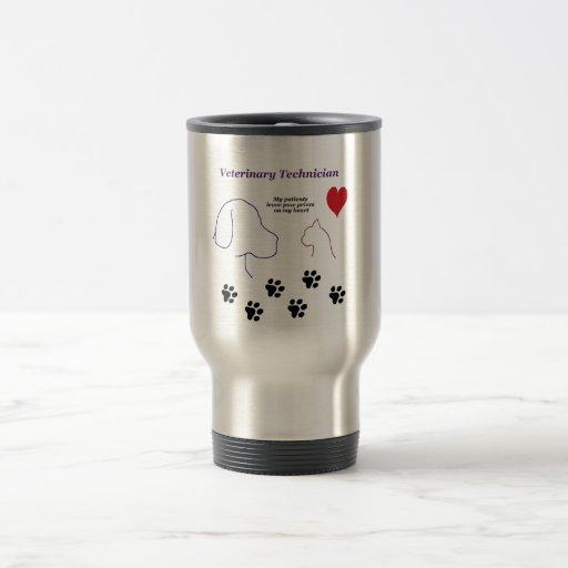Veterinary Technician - Paw Prints on My Heart Coffee Mug