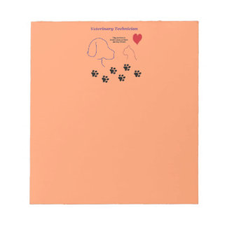 Veterinary Technician - Paw Prints on My Heart Notepad