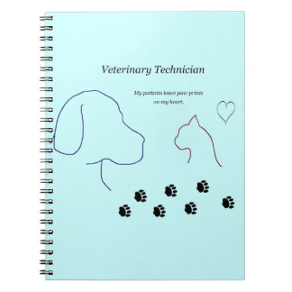 Veterinary Technician - Paw Prints on My Heart Spiral Notebook