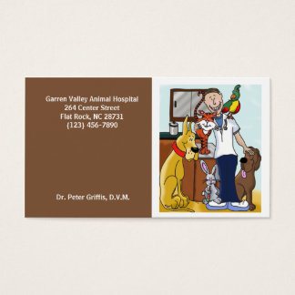 Veterinary Veterinarian Animal Hospital Template Business Card
