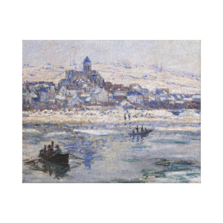 Veteuil en Hiver Gallery Wrapped Canvas