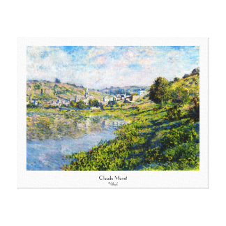 Vetheuil Claude Monet landscape waterscape paint Gallery Wrapped Canvas