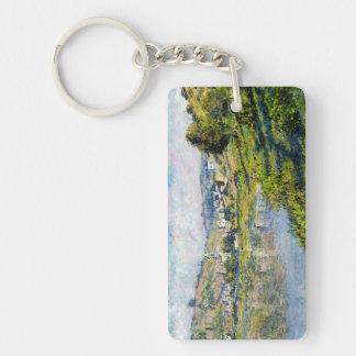 Vetheuil Claude Monet landscape waterscape paint Keychain