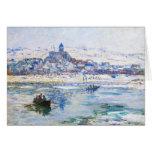 Vetheuil en el invierno Claude Monet Tarjeta Pequeña