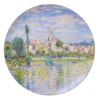 Vetheuil en el verano Claude Monet Plato Para Fiesta