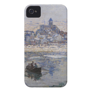 Vetheuil en Hiver Boat on River iPhone 4 Cases
